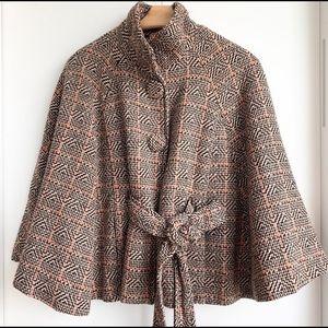 Cape- Vintage Tweed Wool